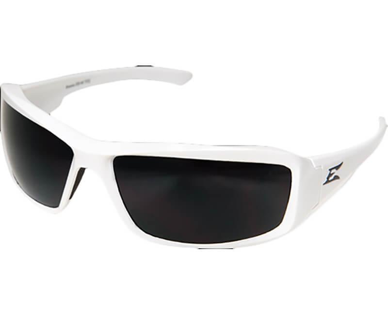 Brazeau White Safety Glasses - Black/Smoke Lens