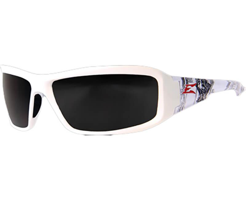 Brazeau Velocity White Safety Glasses - Smoke Lens