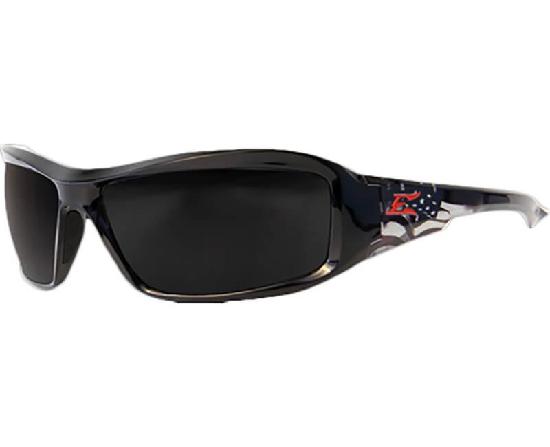 Brazeau Patriot Black Safety Glasses - Smoke Lens