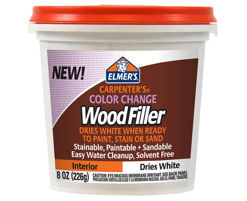 8 Oz. Color Change Interior Wood Filler - White