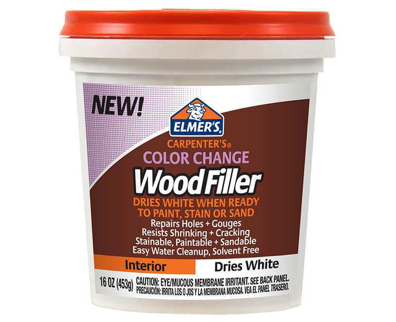 16 Oz. Color Change Interior Wood Filler - White