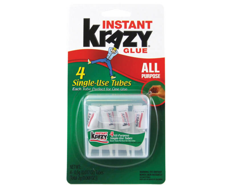 4 Pack All Purpose Krazy Glue Singles