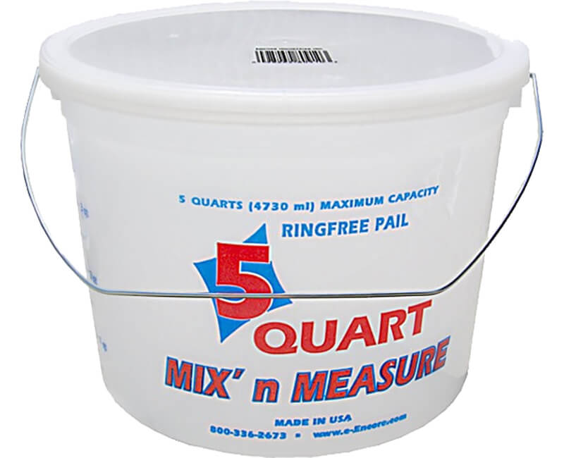 5 Qt. Mix-N-Measure Pail With Wire Handle