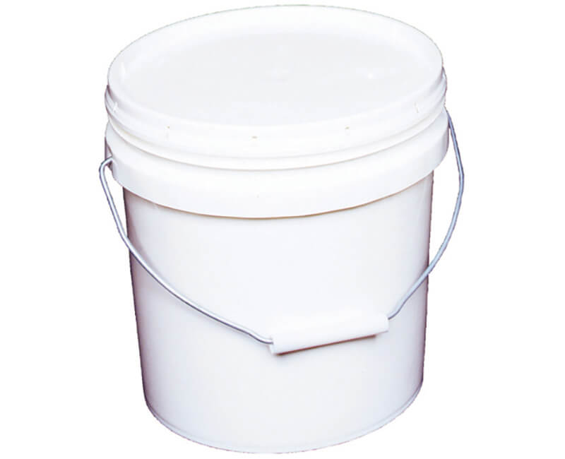 2 GAL. White Industrial Pail