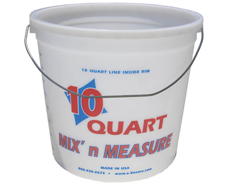 10 Qt. Mix-N-Measure Pail With Wire Handle