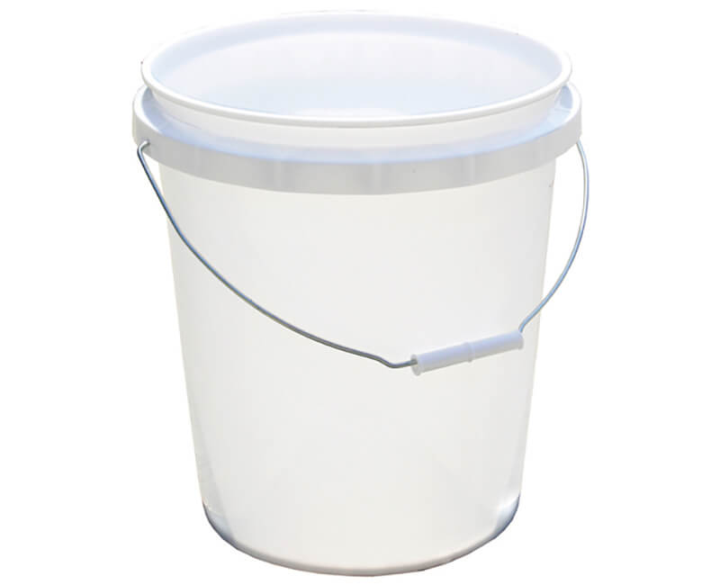5 GAL. White Industrial Space-Efficient Pail