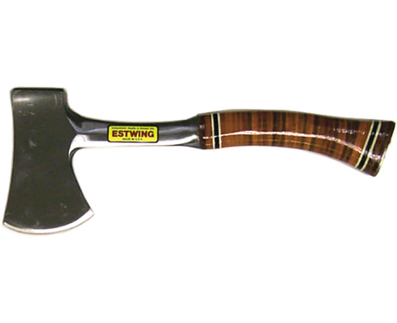 Leather Grip Sportsman's Axe With Sheath