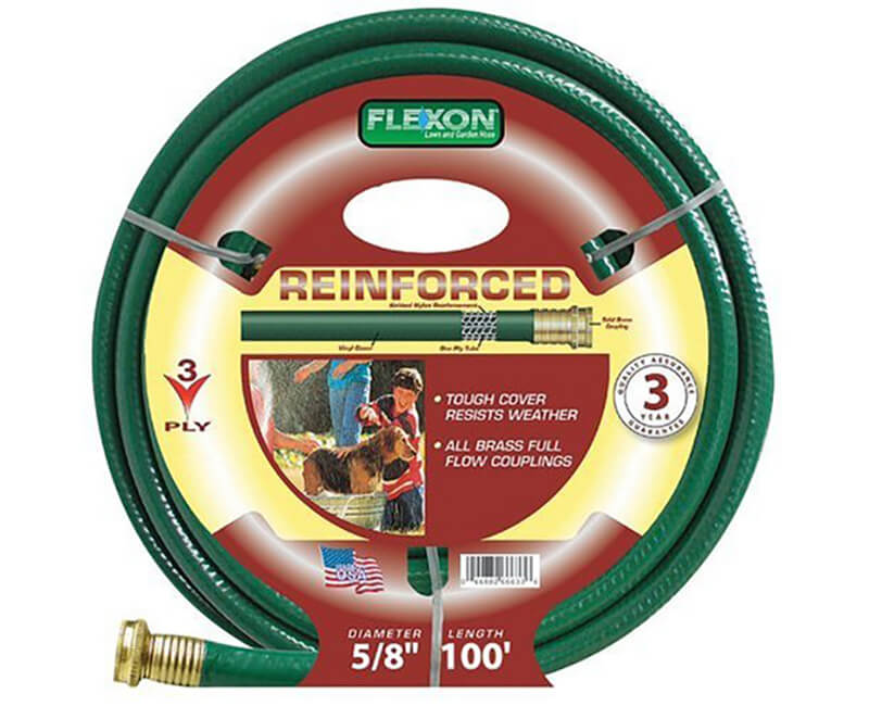 """5/8"""" X 100' 3 Ply Reinforced Hose"""