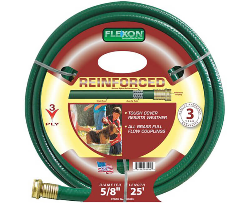 """5/8"""" X 25' 3 Ply Reinforced Hose"""