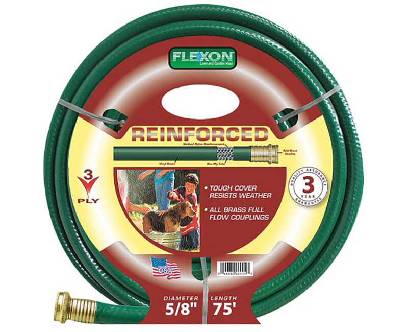 """5/8"""" X 75' 3 Ply Reinforced Hose"""