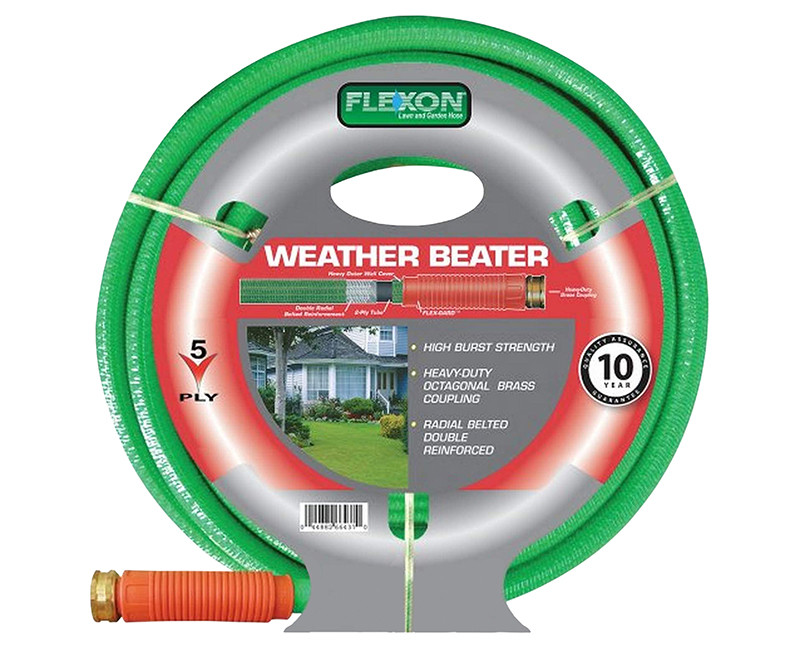 """5/8"""" X 25' RADIAL BELTED DOUBLE REINFORCED HOSE W/ SOLID BRASS COUPLINGS"""