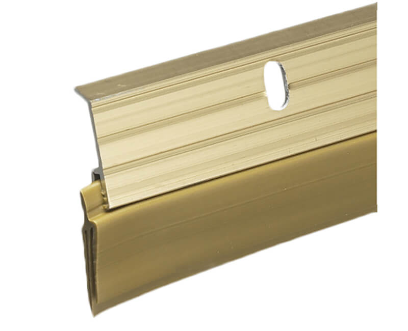 "1-5/8"" X 36"" Aluminum Door Sweep - Gold Finish"