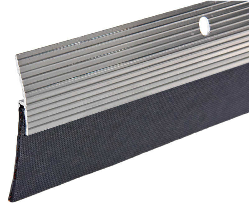 "2""X 36"" Aluminum Door Sweep - Brushed Chrome Finish"