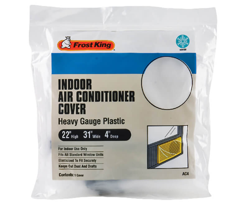 Stretch-To-Fit Inside Window Air Conditioner Cover - 3 Mil