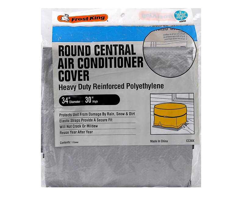 """34"""" X 30"""" Round Central Air Conditioner Cover"""