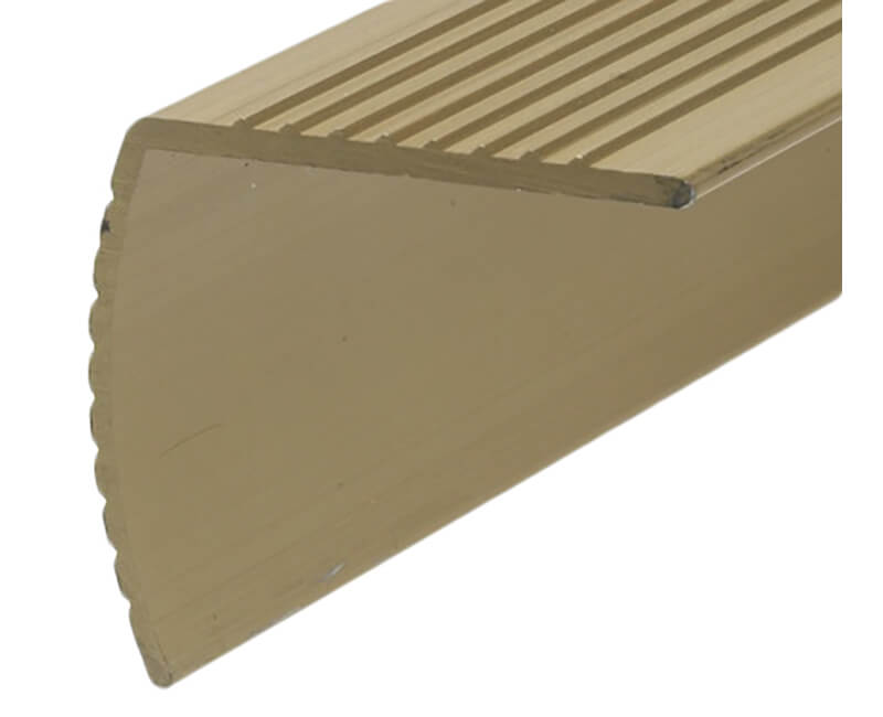 """72"""" Fluted Aluminum Stair Nosing - Gold Finish"""