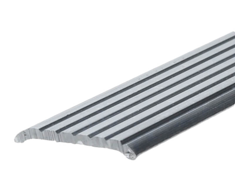 "1-1/4"" X 36"" Fluted Aluminum Seam Binder - Mill Finish"