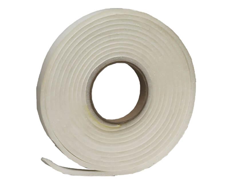 """3/4"""" X 1/4"""" X 17' Open Cell Foam Tape - White"""