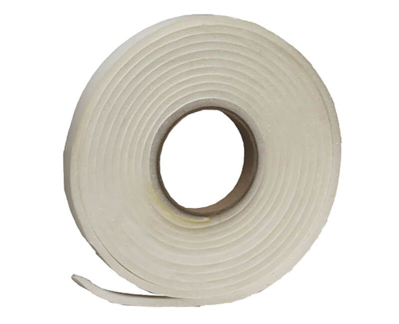 """1-1/2"""" X 1/4"""" X 17' Open Cell Foam Tape - White"""
