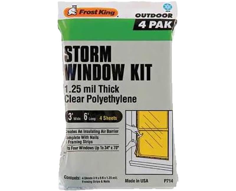 Storm Window Kit - 4 Pack