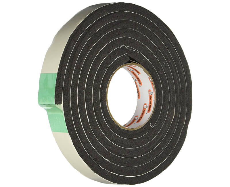 "1-1/4 X 7/16"" X 10' Sponge Rubber Tape - Black"