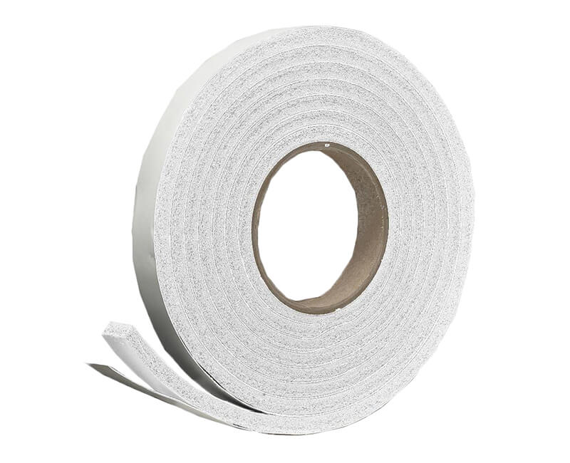 "3/4"" X 5/16"" X 10' Sponge Rubber Tape - White"