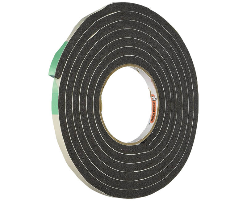 "3/8"" X 5/16"" X 10' Sponge Rubber Tape - Black"