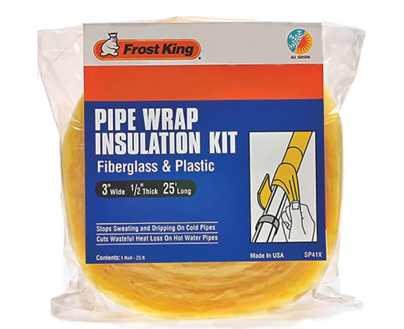 "3"" X 1/2"" X 25' Fiberglass Pipe Wrap Kit"