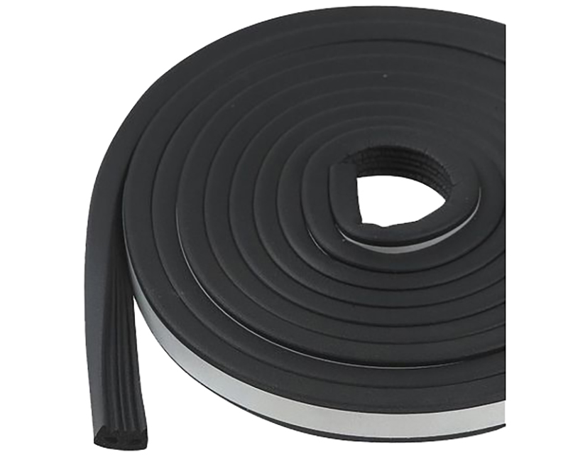 "9/16"" x 5/16"" x 10' Black Cushioned Home/Auto/Marine Self Stick Weatherseal Tape"