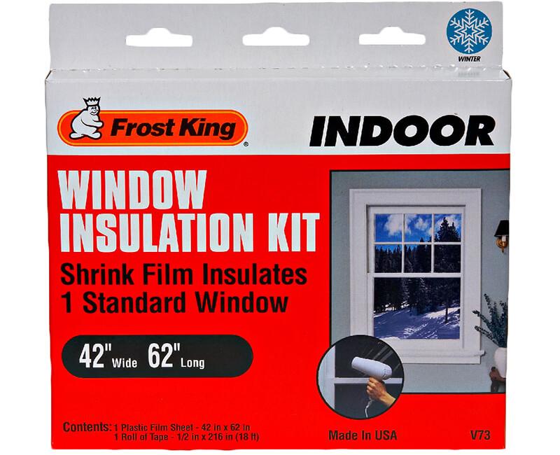 "42"" X 62"" Indoor Shrink Window Kit - 1 Sheet"