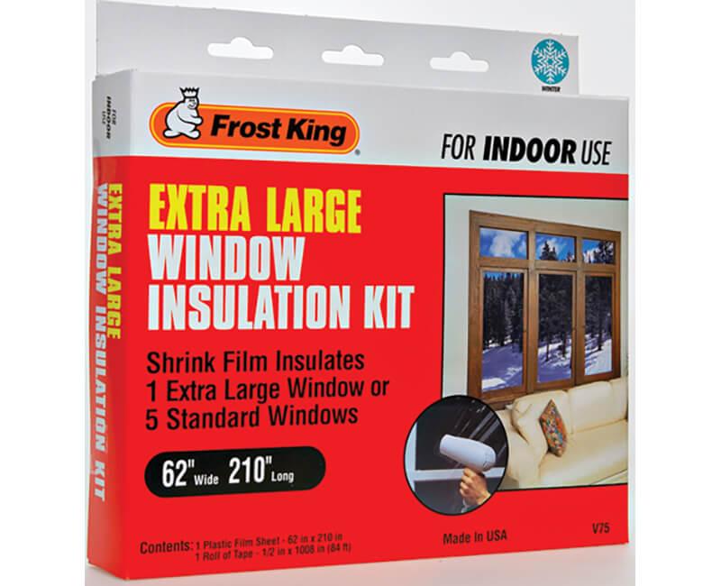 """62"""" X 210"""" Inside Shrink Window Kit - 1 Sheet"""