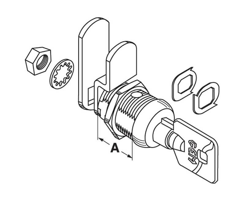 "5/8"" Multi Function Cam Lock - Keyed #217"