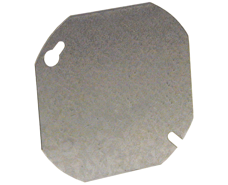 """4"""" OCTAGON FLAT COVER BLANK"""