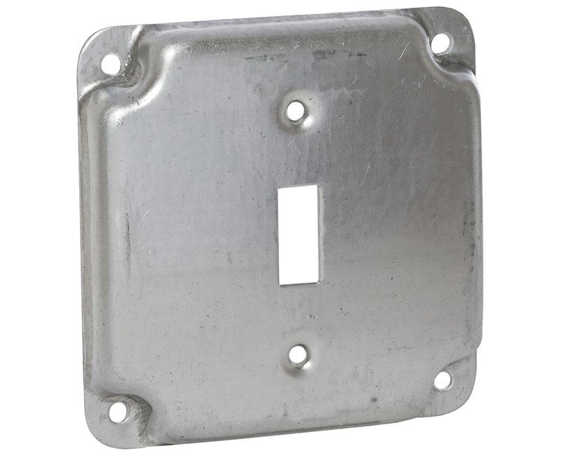"4"" SQUARE 1900 RAISED COVER 1 TOGGLE"