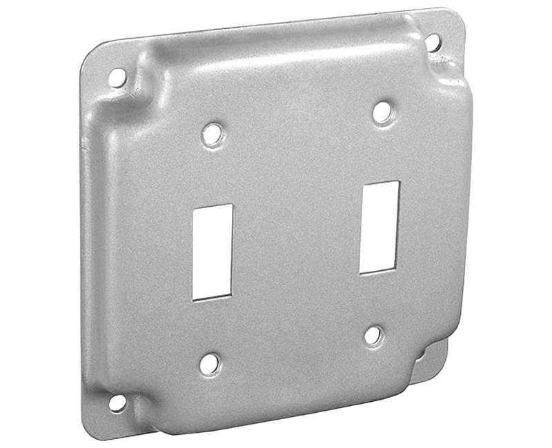 "4"" SQUARE 1900 RAISED COVER 2 TOGGLE"