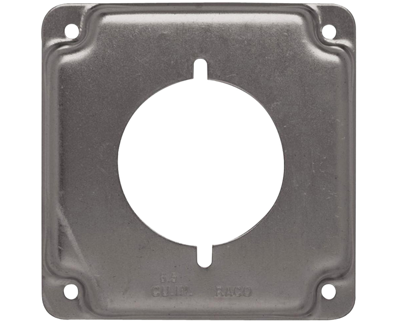 "4"" SQUARE 1900 RAISED COVER 30A/50A DRYER OUTLET"