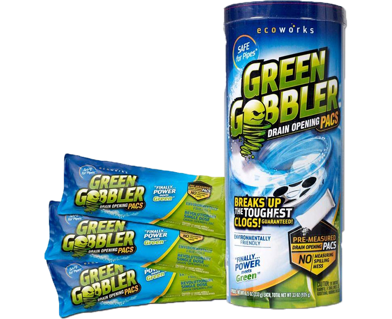 Green Gobbler Drain Opener Retail Can - 3 Pack