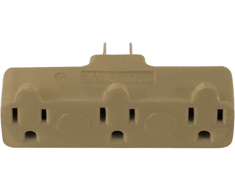 3 Outlet Adapter - Beige Bulk