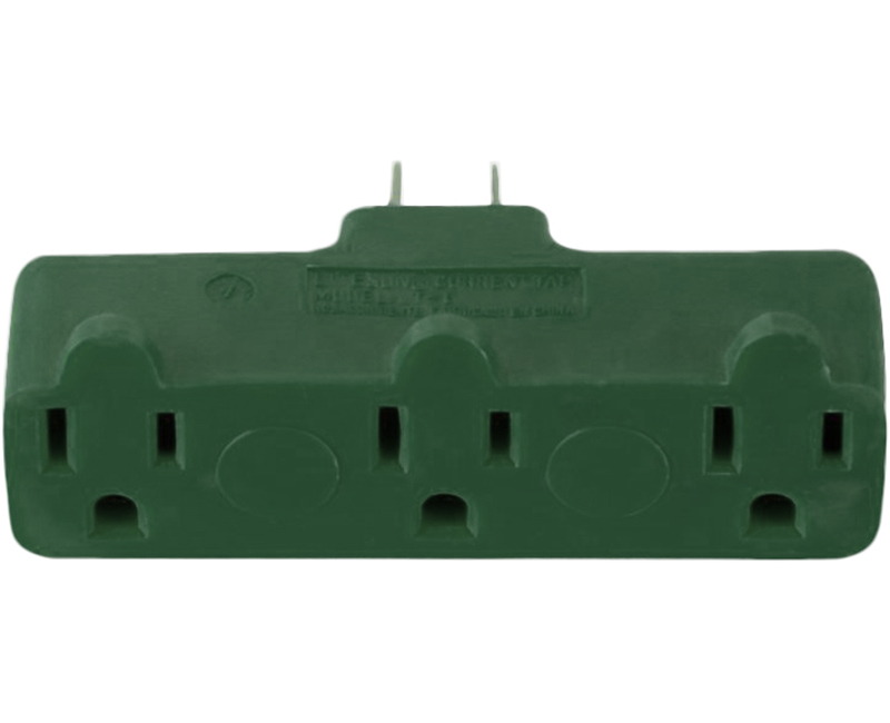 3 Outlet Adapter - Green