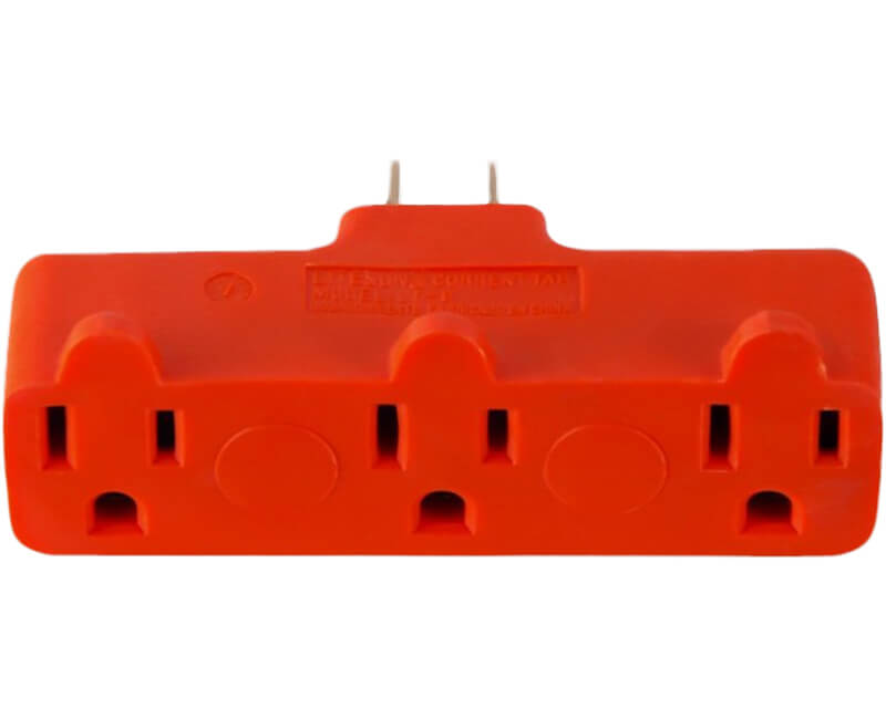 3 Outlet Adapter - Orange Bulk