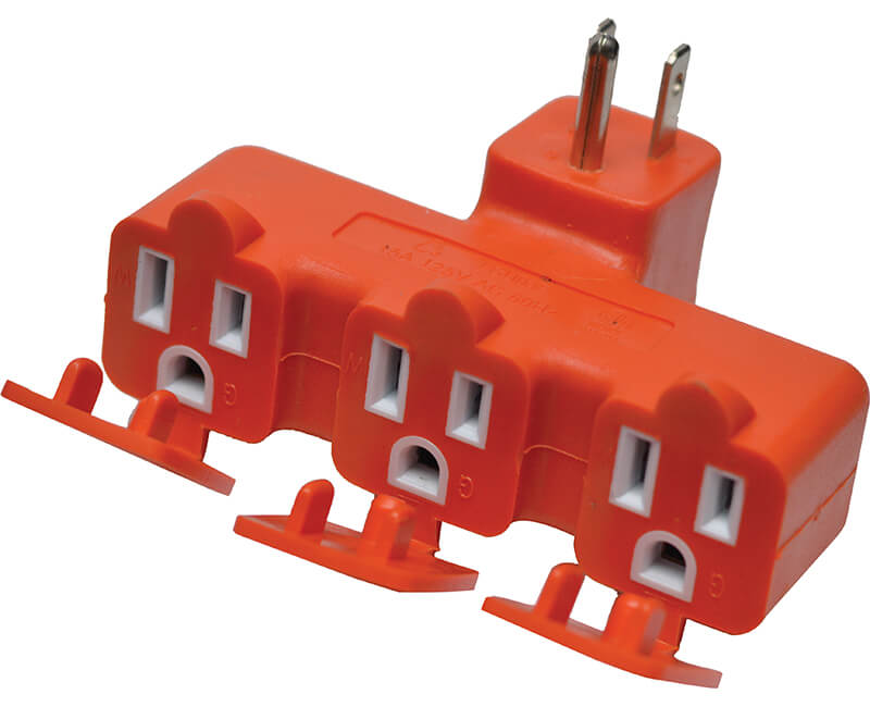 3 Outlet Tri Tap- Orange