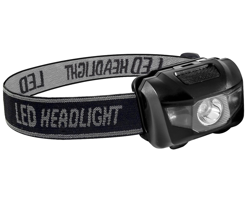 Black 3 Way Pro Headlight - 3 Watt