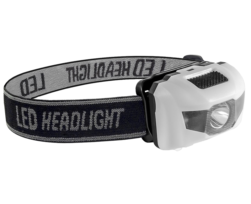 White 3 Way Pro Headlight - 3 Watt
