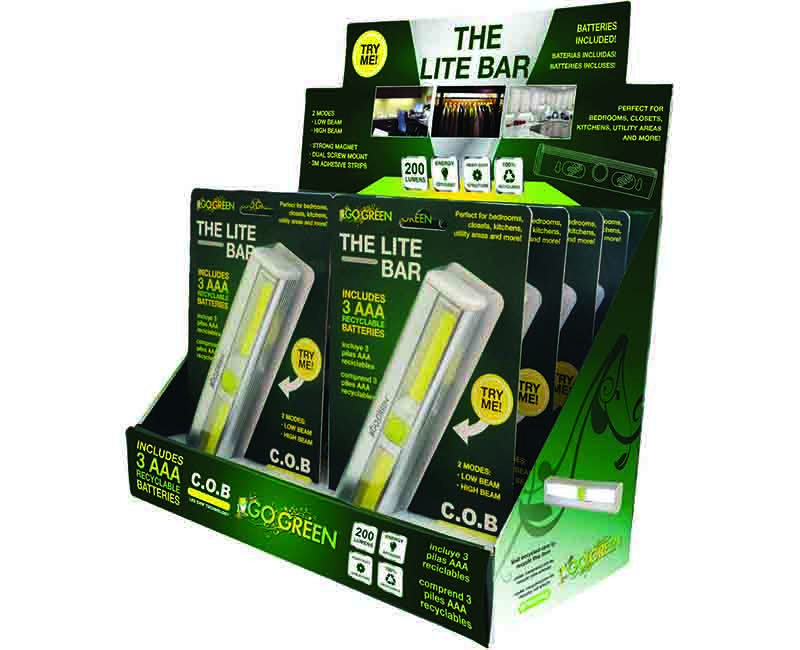 200 Lumens COB LED On/Off Switch - 8 Piece Display