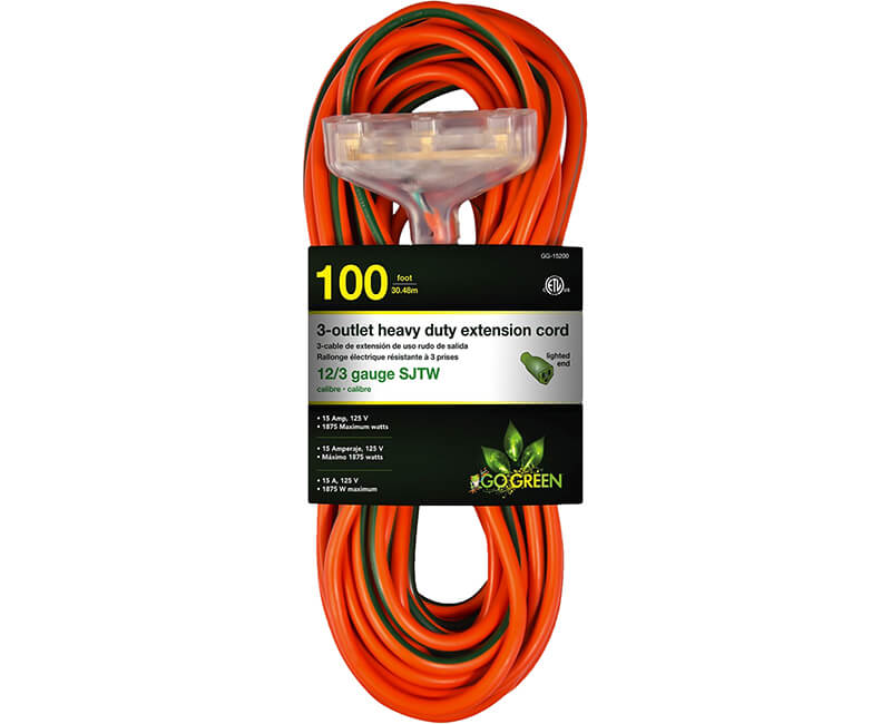 100' Lighted Tri Tap - 12/3