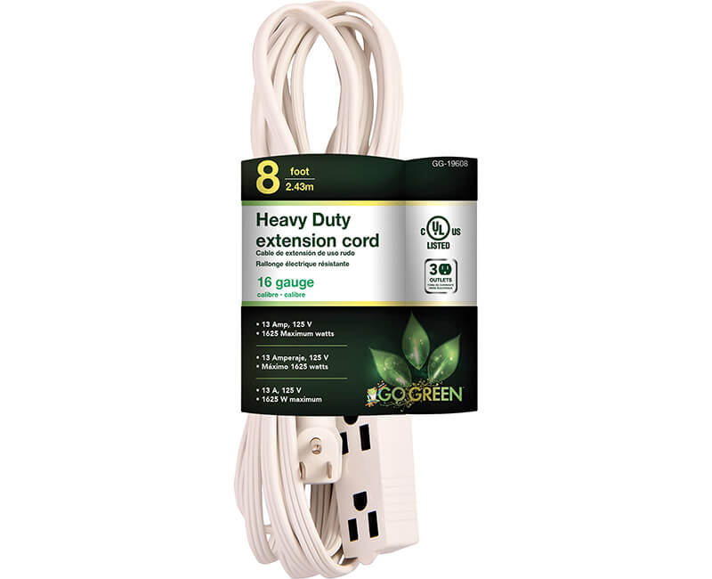 16/3 8' Extension Cord