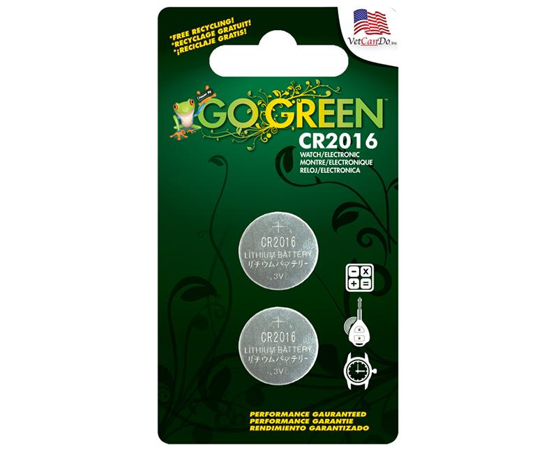 CR2016 3 Volt Button Cell Battery - 2 Per Blister Card