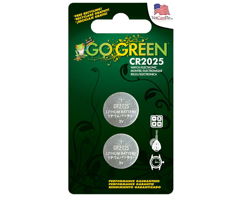 CR2025 3 Volt Button Cell Battery - 2 Per Blister Card