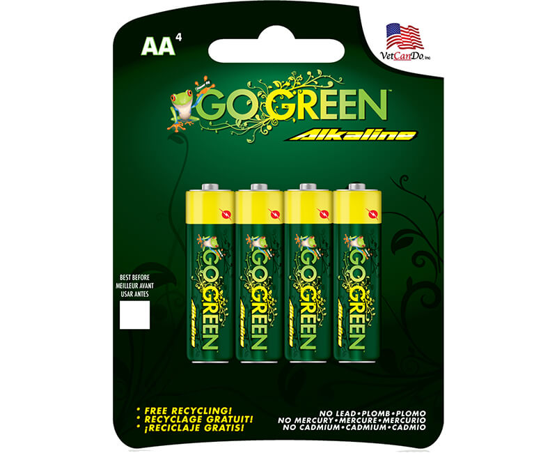 4 Pack AA Alkaline Batteries