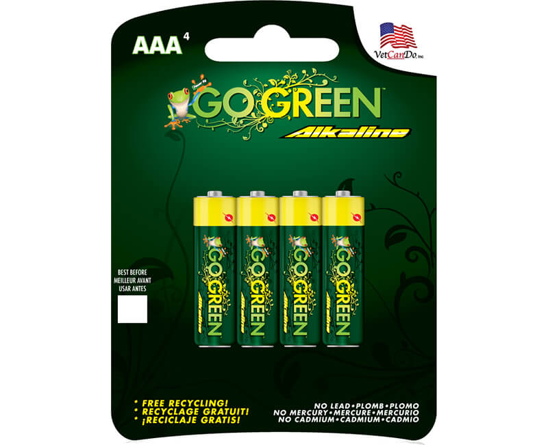 4 Pack AAA Alkaline Batteries